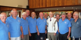 Brian, very sadly our last time with him, after forty years with the club