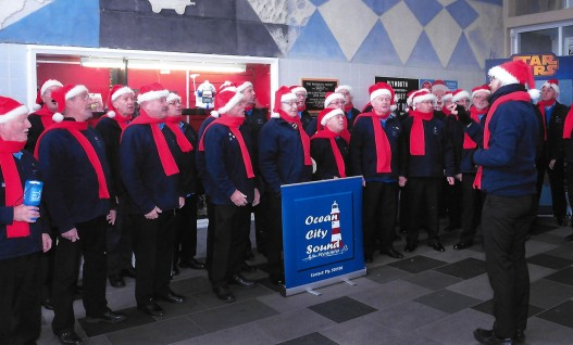 Carol singing for charity.